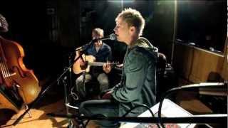 Chris Madin sings his own song Jigsaw in Marindin Hall Frensham