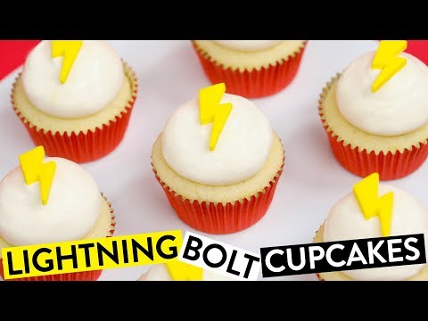 HOW TO MAKE LIGHTNING BOLT CUPCAKES ft Swoozie! - NERDY NUMMIES