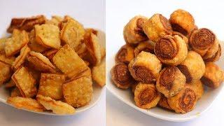 भाकवडी बनाने का सबसे आसान तरीका   Perfect Bakarwadi Recipe   Geeta Cooking World
