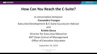 How Can You Reach the C-Suite?
