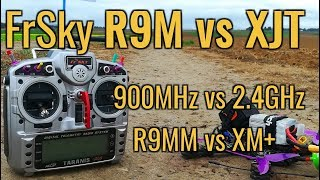FrSky R9M 900Mhz vs FrSky XJT 2 4GHz - Range Test