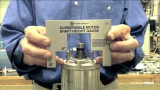 Submersible Motor Shaft Height Gauge