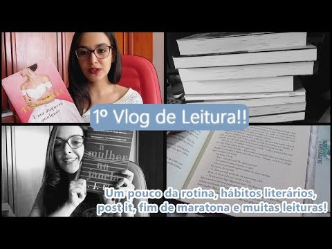 Vlog de Leitura: hábitos literários, uso de post it, última semana de maratona e muitas leituras!