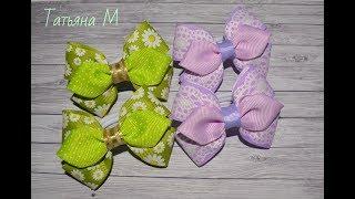 МК Бантики малышки из ленты 2.5 см DIY Bows baby ribbjn 2.5 cm
