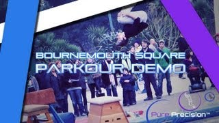 preview picture of video 'Bournemouth Square Parkour Demo [Bournemouth Parkour and Freerunning Community]'