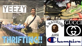 FOUND BAPESTA, YEEZY, GUCCI AT GOODWILL BINS!!! TRIP TO THE THRIFT!!!