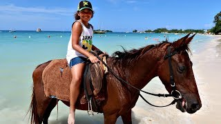 Kids Horse Riding On The Beach! Family Fun In Jamaica   Toys AndMe