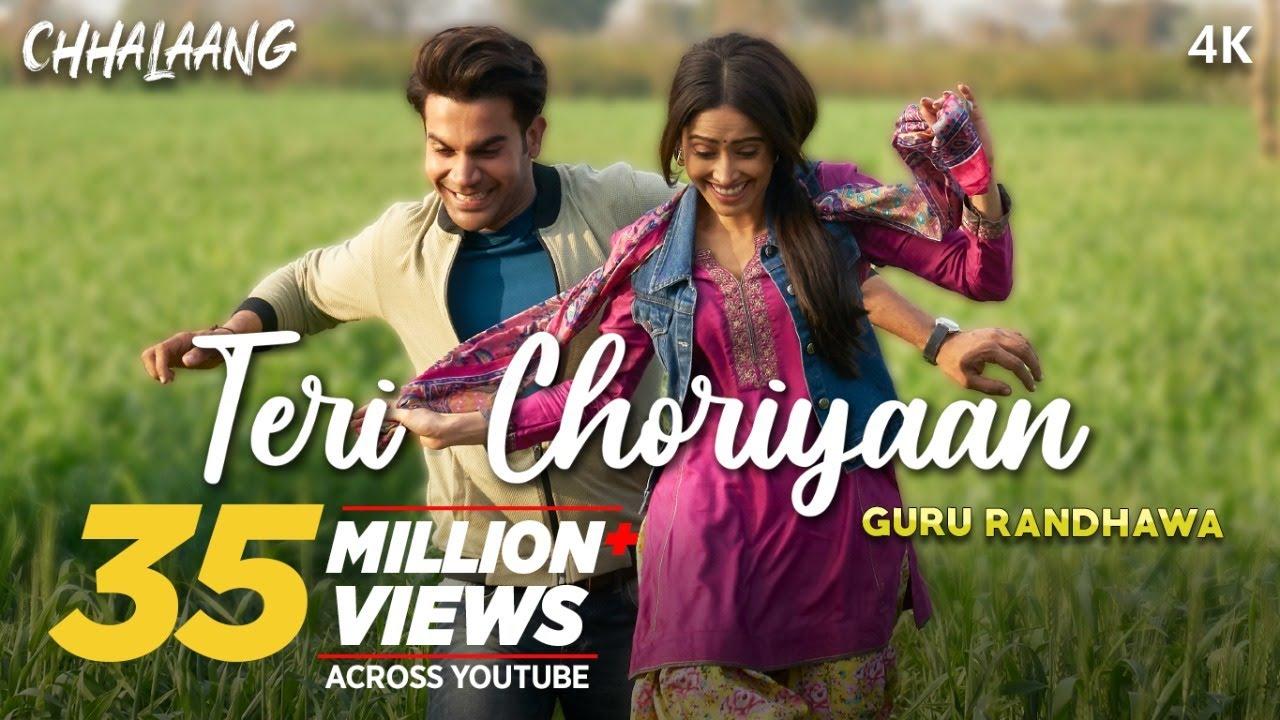 Teri Choriyaan Lyrics | chhalang | Rajkummar R, Nushrratt B | Guru Randhawa, VEE, Payal Dev