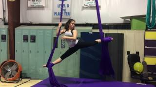 Julia Performing Believer By Imagine Dragons On The Aerial Silks!