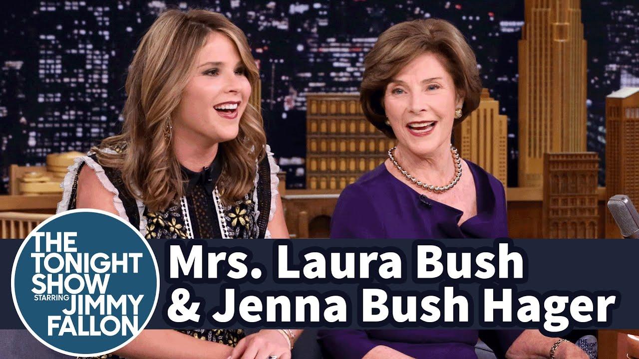 Mrs. Laura Bush and Jenna Bush Hager on George W. Bush's Painting thumbnail
