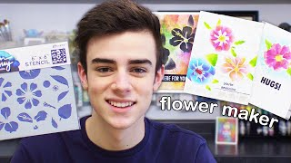 How To Use The Flower Maker Stencil!
