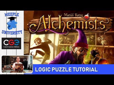 Alchemists Board Game - Logic Puzzle Tutorial under 17 Minutes