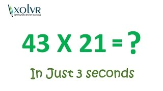 Multiplying any two 2 digit number in 3 seconds.