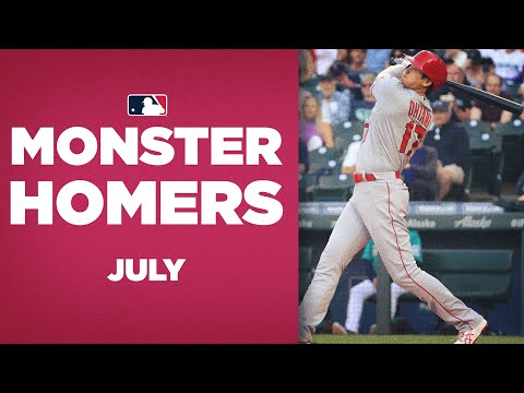 LONGEST homers of July! (Monster shots from Shohei Ohtani and more!)