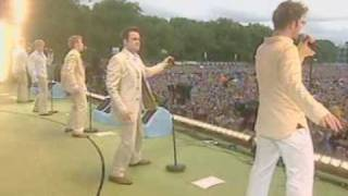 Westlife - Live @ Party in the Park - Uptown Girl [07-07-2002]