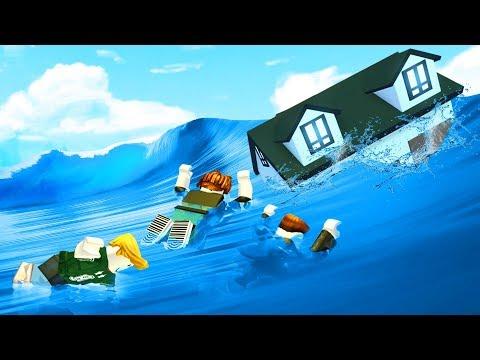 CRAZY SURVIVE THE FLOOD CHALLENGE! (Roblox)