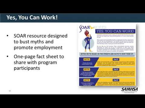 SOAR Webinar: SOARing to Employment with SSA Work Incentives and Benefits Planning