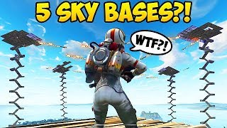 CRAZIEST SKY BASE BATTLE EVER! - Fortnite Funny Fails and WTF Moments! #207 (Daily Moments)