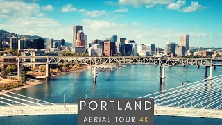Downtown Portland, Oregon - 4K AERIAL TOUR