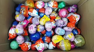 Surprise Eggs UnBoxing Kinder Joy Surprise Toys and Learn Names of Fruits and Vegetable Fun Video
