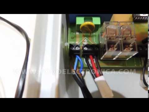Instalacion receptor externo motor puerta de garaje