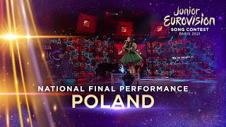 Sara James - Somebody - Poland 🇵🇱 - National Final Performance - Junior Eurovision 2021