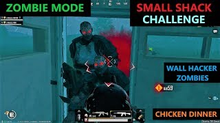 [Hindi] PUBG MOBILE   SURVIVING ZOMBIE MODE IN SMALL SHACK CHALLENGE & WALL HACKER ZOMBIES