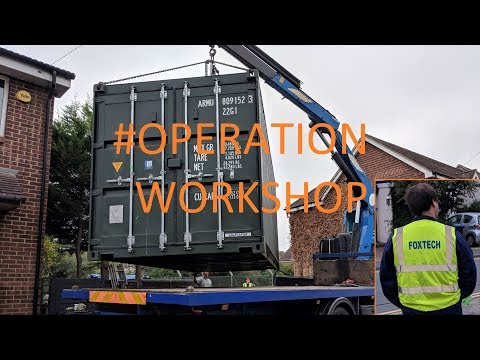 We put a 20ft shipping container in the garden - #OperationWorkshop