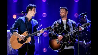 """Shawn Mendes And Justin Timberlake Performing """"What Goes Around Comes Around"""" IHeart Festival 2018"""