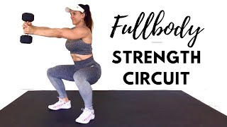 FULL BODY STRENGTH CIRCUIT WORKOUT - Burn Fat + Sculpt Lean Muscle