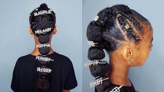 Poodlepuff Ponytail- Hairstyle For Black. Girls