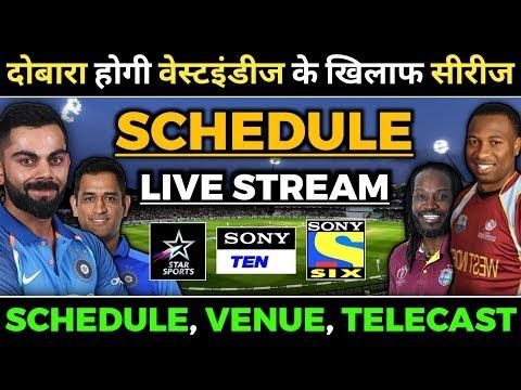 India vs West Indies 2019 Schedule, Dates & Live Telecasting | West Indies Tour of India 2019