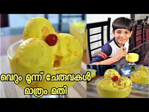 വെറും മൂന്ന് ചേരുവകൾ കൊണ്ട് മിക്സിയിലൊരു കിടിലൻ ഐസ് ക്രീം 👌😋/Pappaya Ice Cream Recipe