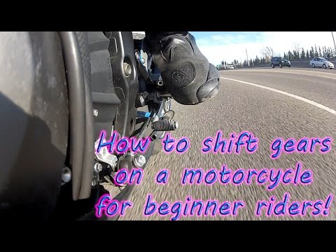 How to shift gears on a motorcycle . Multiple angle footage.
