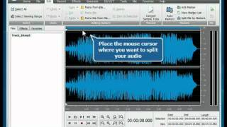 How to split audio file into separate tracks using AVS Audio Editor