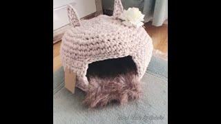 Gehäkelte Katzen -Haus aus Textilgarn Part 1.