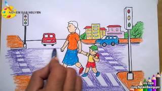 Vẽ tranh Bé với An toàn giao thông/How to Draw Baby with traffic safety