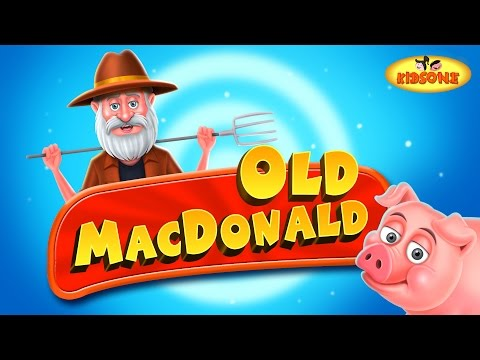 Old MacDonald Had A Farm EIEIO Nursery Rhyme with Lyrics