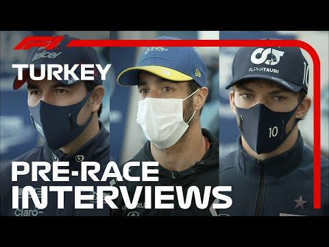 F1 トルコGP レース前に行われたドライバーインタビュー動画