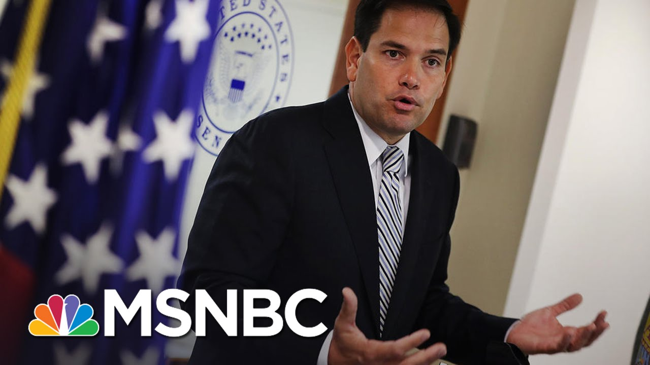 Marco Rubio 'Disturbed' By Donald Trump's Judge Remarks | MSNBC thumbnail