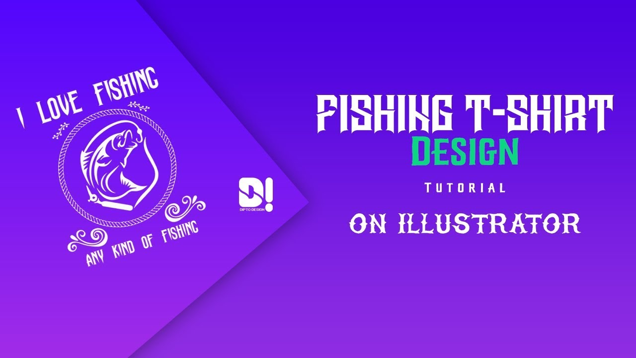 How to design fishing t-shirt illustrator tutorial