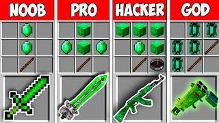 Minecraft NOOB vs PRO vs HACKER vs GOD : EMERALD CRAFT BATTLE in Minecraft - Animation