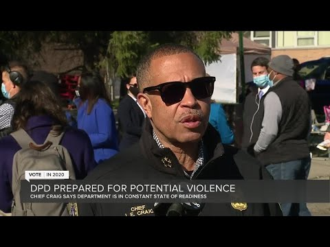Detroit police prepared for potential violence on Election Day