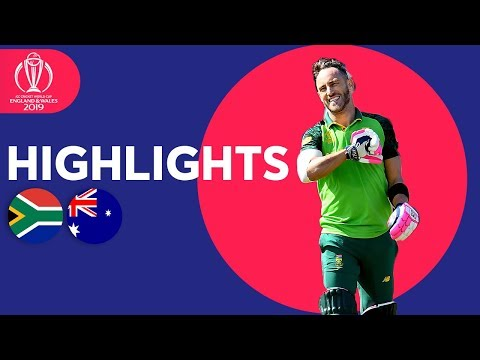 South Africa vs Australia Match Highlights ICC Cricket World Cup 2019