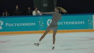 Мария Сотскова ПП Контрольные прокаты 2018-2019 Maria Sotskova FS Open Skates
