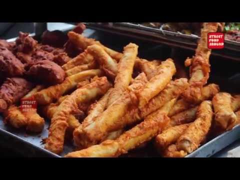 Arabian Chicken Spring Roll   Amazing Cooking Skill   Street Food Around The World
