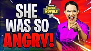 SHE WAS SO ANGRY! (Fortnite Battle Royale)