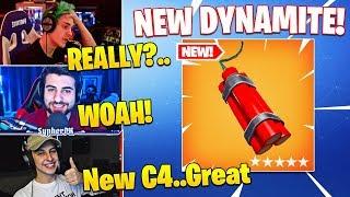 Ninja & Streamers React To *NEW* DYNAMITE EXPLOSIVE! - Fortnite Funny Moments