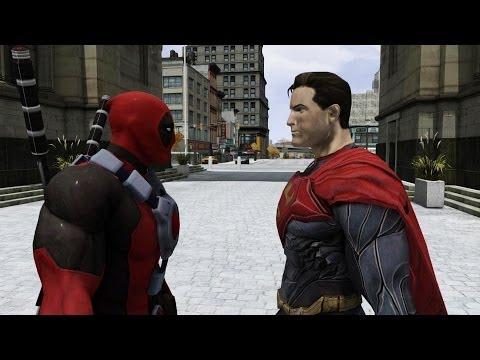 Superman vs Deadpool - EPIC BATTLE - Grand Theft Auto