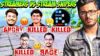 PUBG Streamers Killed by Stream Snipers - Streamers Getting Rage on Stream - Dynamo, Mortal, RON